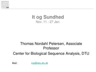 It og Sundhed Nov. 11 - 27 Jan.