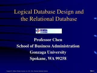 Logical Database Design and the Relational Database