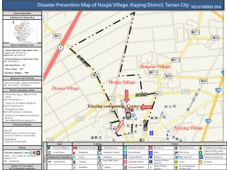 Disaster Prevention Map of Houjie Village, Xiaying District, Tainan City
