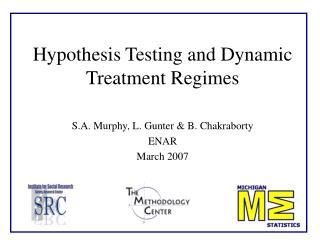Hypothesis Testing and Dynamic Treatment Regimes