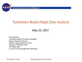 Turbulence Radar Flight Data Analysis