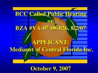 October 9, 2007