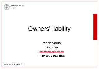 Owners' liability