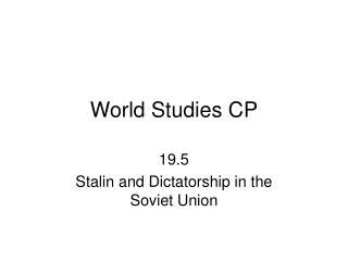 World Studies CP