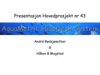 Presentasjon Hovedprosjekt nr 43 André Rødsjøsether  & Håkon B Mogstad