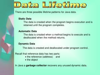 Data Lifetime