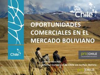 Lorena Sánchez Oficina Comercial de Chile  en  La Paz-  Bolivia