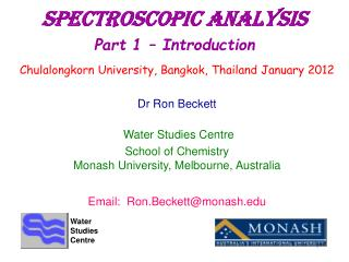 Spectroscopic Analysis Part 1   Introduction