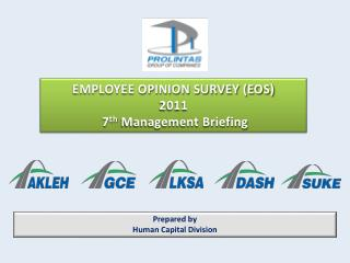 EMPLOYEE OPINION SURVEY (EOS)  2011   7 th  Management Briefing