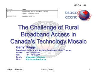 The Challenge of Rural Broadband Access in Canada's Technology Mosaic