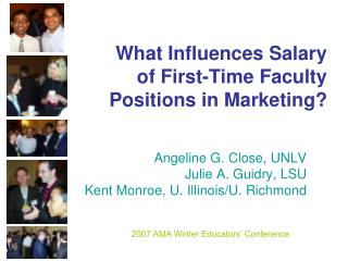 What Influences Salary  of First-Time Faculty  Positions in Marketing?
