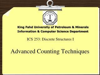 ICS 253: Discrete Structures I
