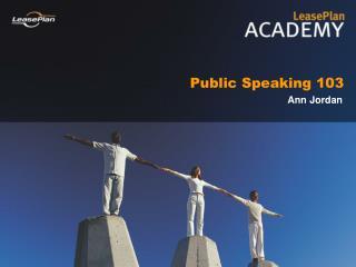 Public Speaking 103