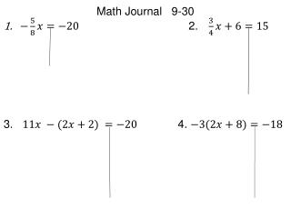 Math Journal   9-30
