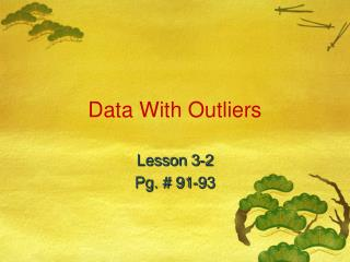 Data With Outliers
