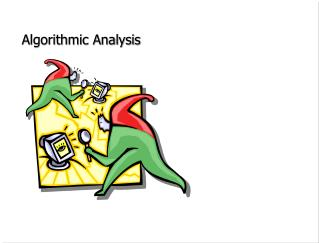 Algorithmic Analysis