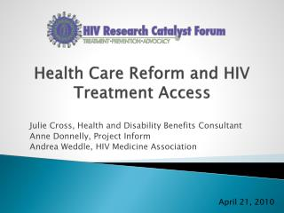 Health Care Reform and HIV Treatment Access