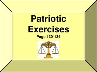 Patriotic Exercises Page 130-134