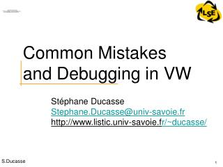 Common Mistakes and Debugging in VW