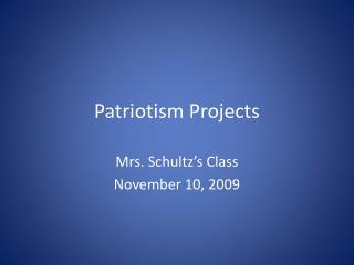 Patriotism Projects