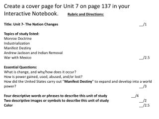 Unit 7. The Nation Changes Cover Page