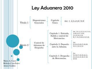 Ley Aduanera 2010