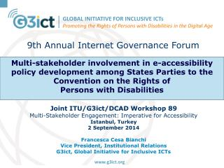 9th Annual Internet Governance  Forum