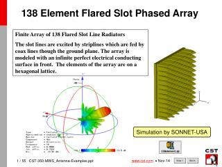 138 Element Flared Slot Phased Array