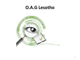 O.A.G Lesotho