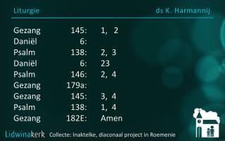 Liturgie ds  K.  Harmannij