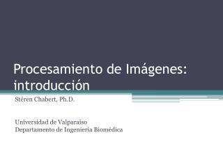 Procesamiento de Im ágenes: introducción