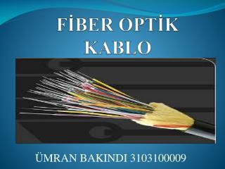 FİBER OPTİK KABLO