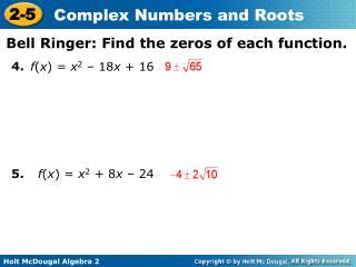 f ( x ) =  x 2 – 18 x  + 16