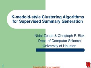K-medoid-style Clustering Algorithms for Supervised Summary Generation