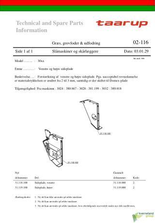 Side 1 af 1                   Slåmaskiner og skårlæggere Dato: 03.01.29