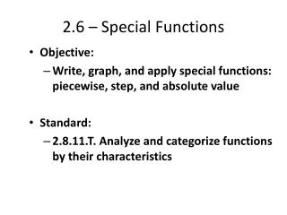 2.6 –  Special Functions