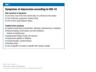 Mehler- Wex , C;  Kölch , M Depression in  Children and Adolescents