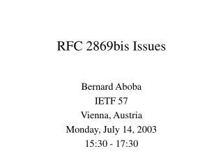 RFC 2869bis Issues