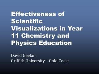 David Geelan Griffith University – Gold Coast