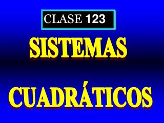 CLASE  123