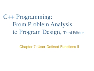 CHAPTER 7  USER-DEFINED FUNCTIONS II