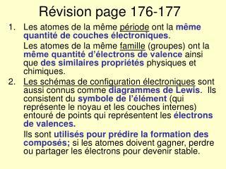 Révision page 176-177