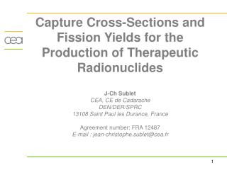 Y-90,I-131 and Cs-137 production: Fission yields