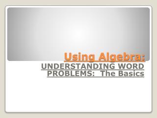 Using Algebra: