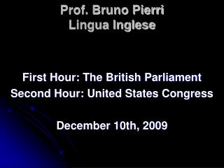 Prof. Bruno Pierri Lingua Inglese
