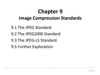 Chapter 9 Image Compression Standards