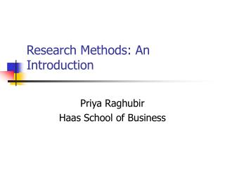 Research Methods: An Introduction