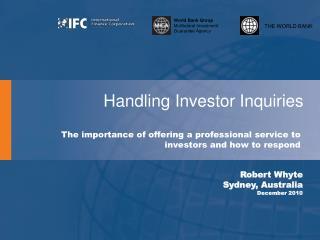 Handling Investor Inquiries