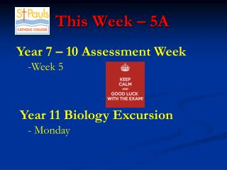 This Week � 5A