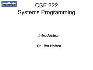 CSE 222 Systems Programming